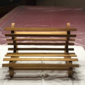 Mini slatted bench